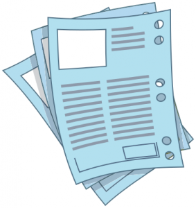 Clip art of data sheets.
