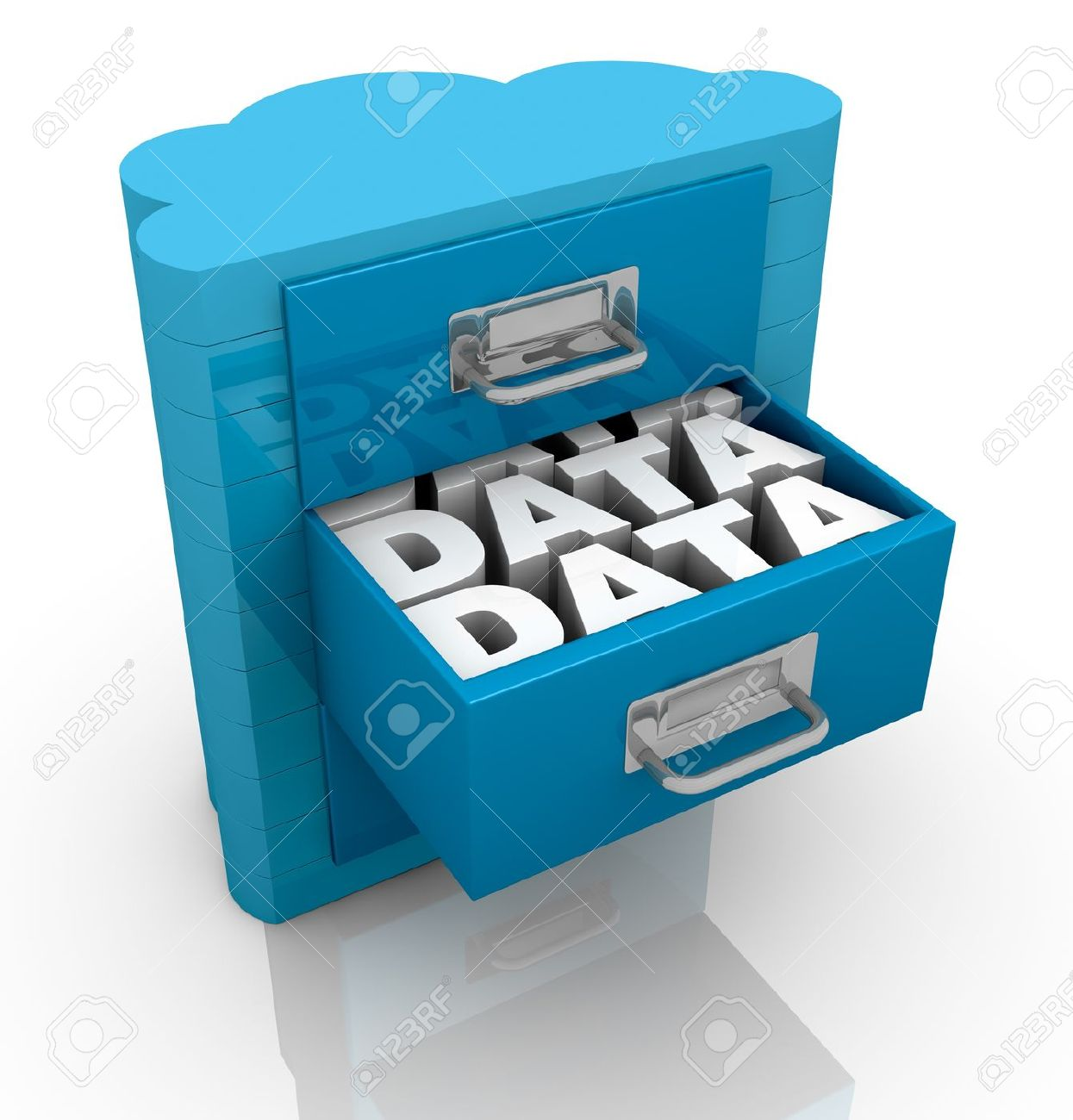 Data storage clip art.