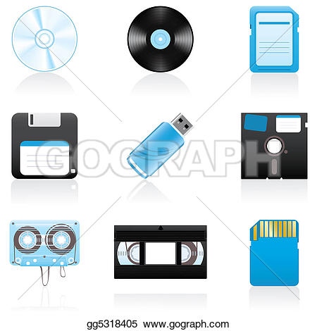 Storage Media Stock Illustrations.