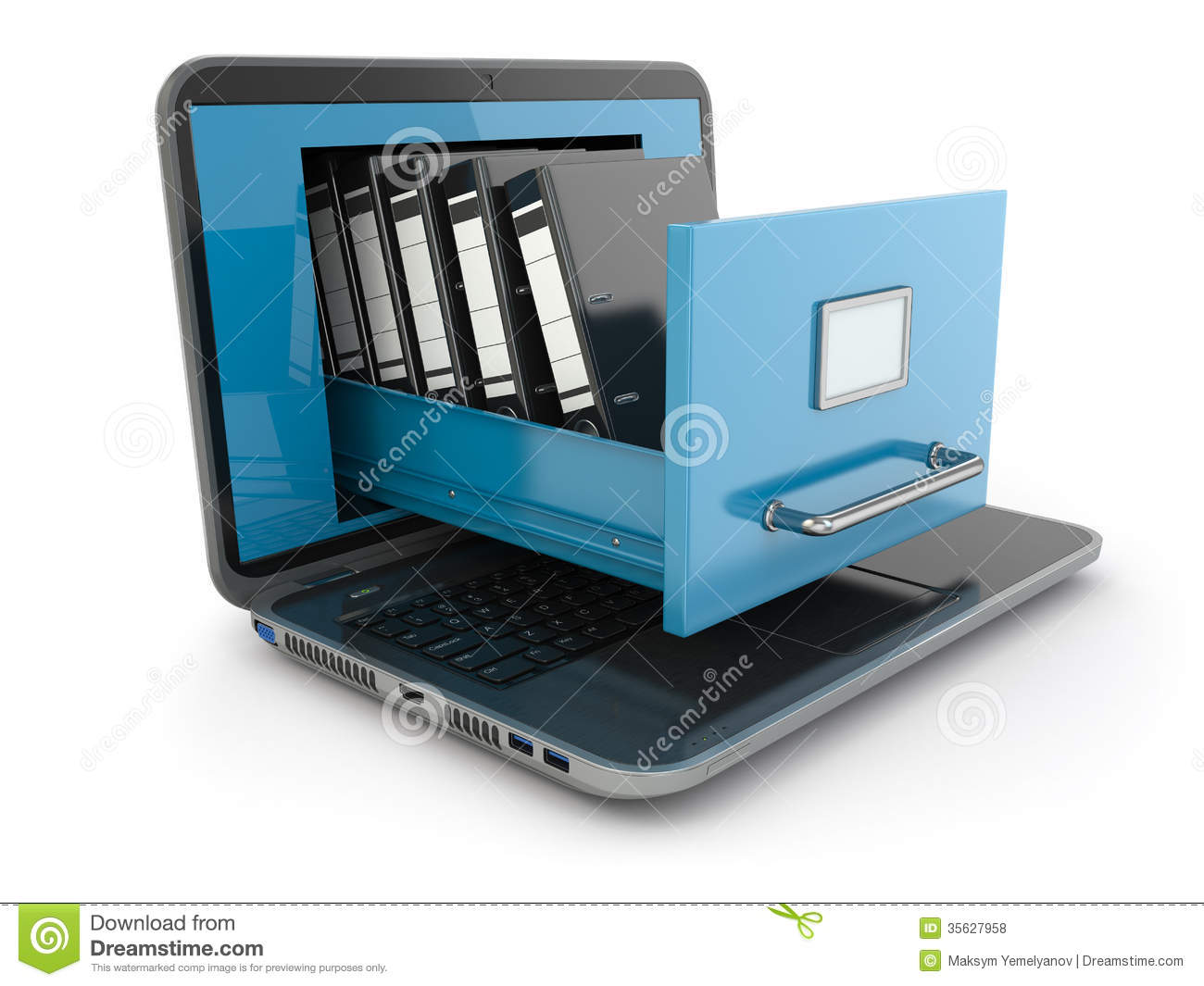 Computer laptop storage clipart.
