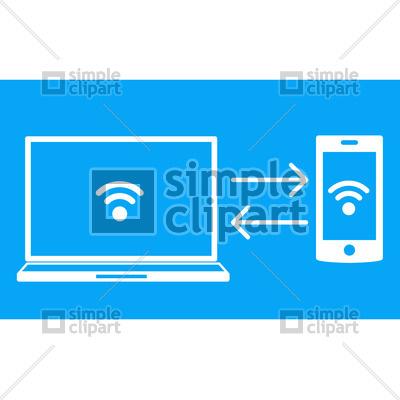 Wireless data transfer Vector Image #1697.