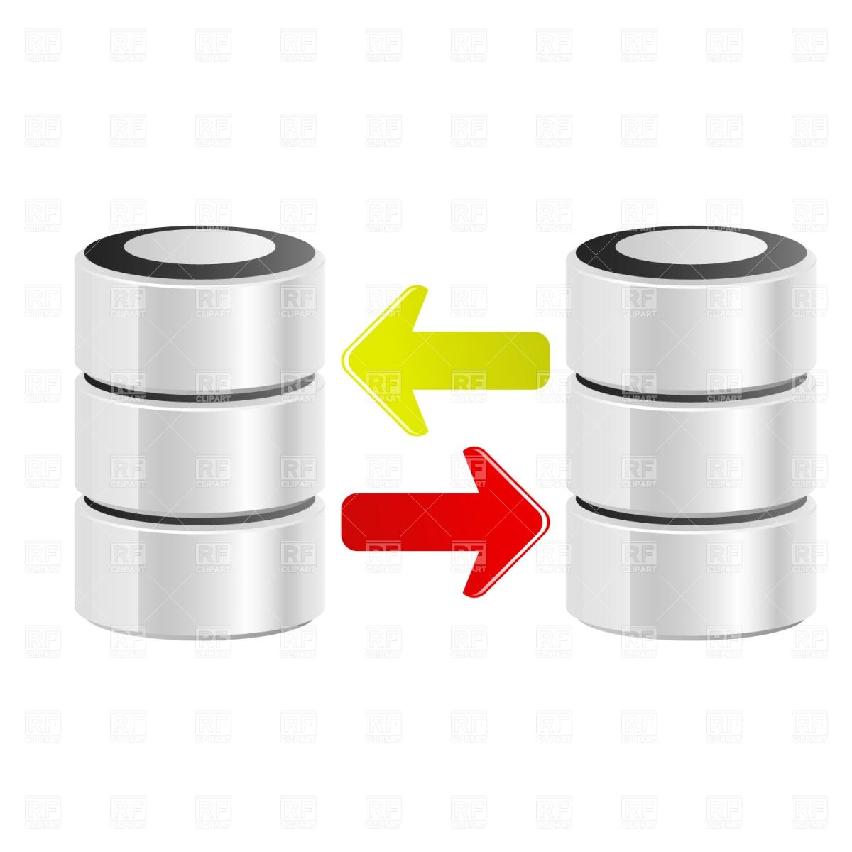 Data transfer clipart.