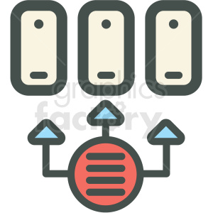 data transfer vector icon . Royalty.