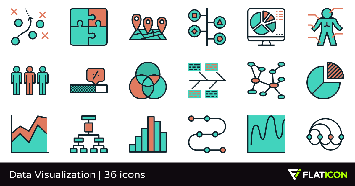 Data Visualization 36 free icons (SVG, EPS, PSD, PNG files).