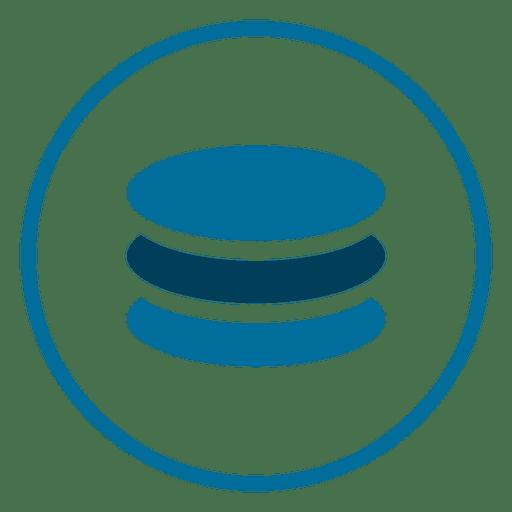 Database circle icon.