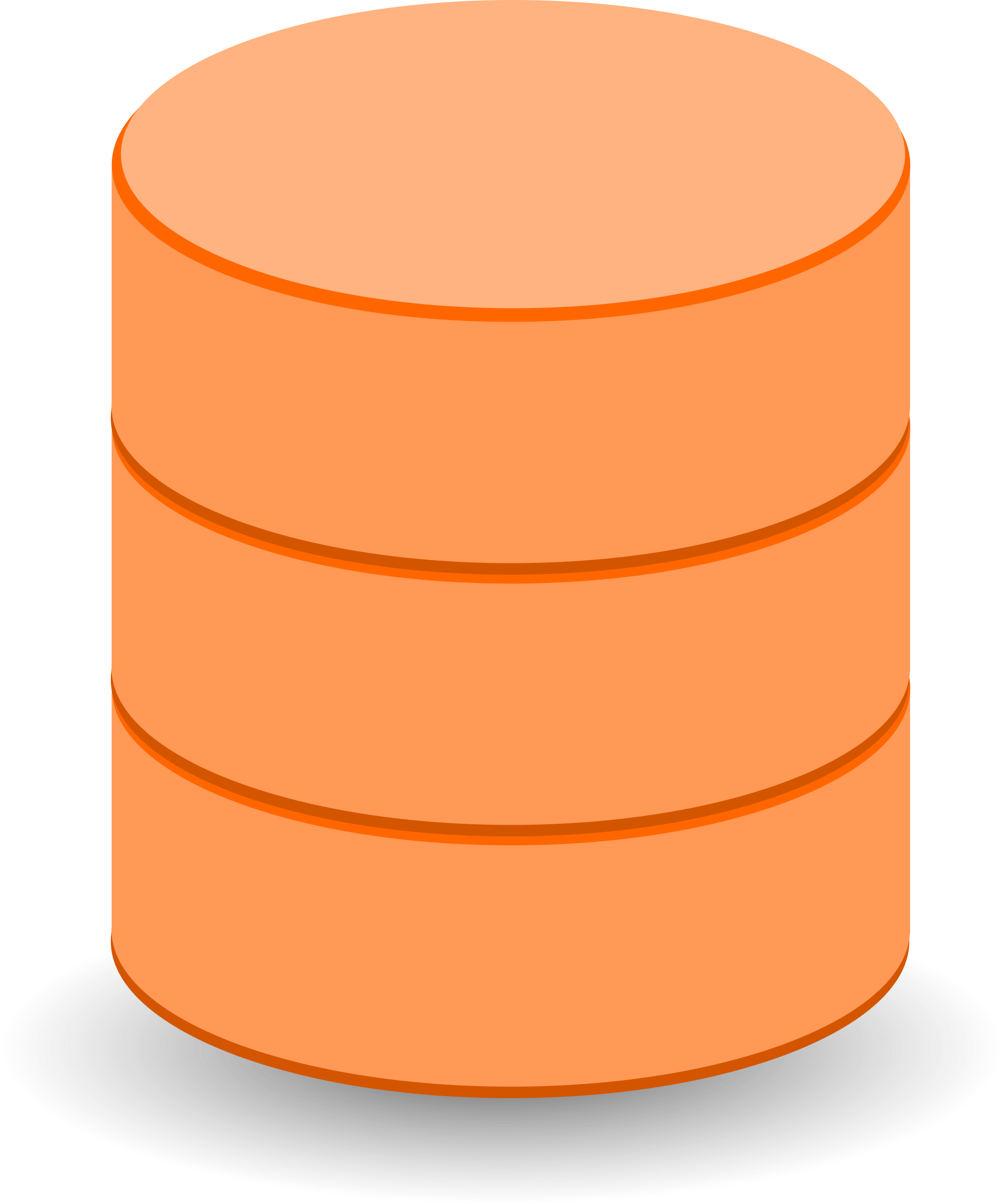 DataBase Orange Icons PNG.