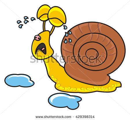 Cute Baby Snail Cartoon Stock.