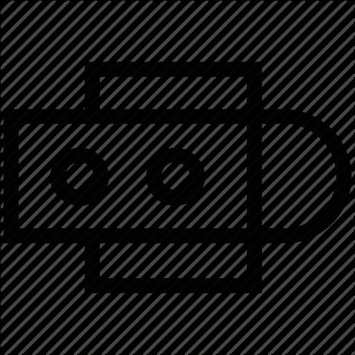 Data traveler, flash, memory stick, usb, usb drive icon.