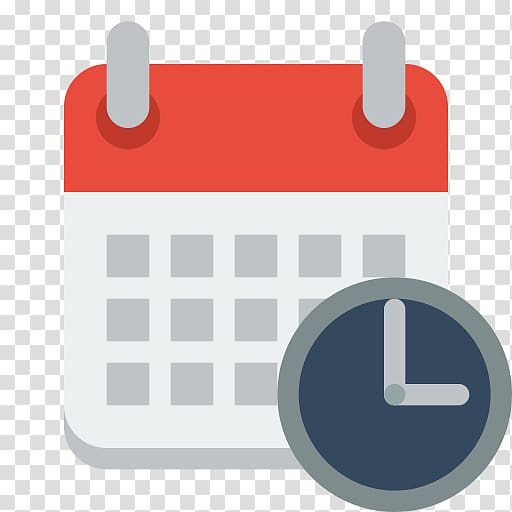 Red, white, and gray calendar and clock icon , Computer.