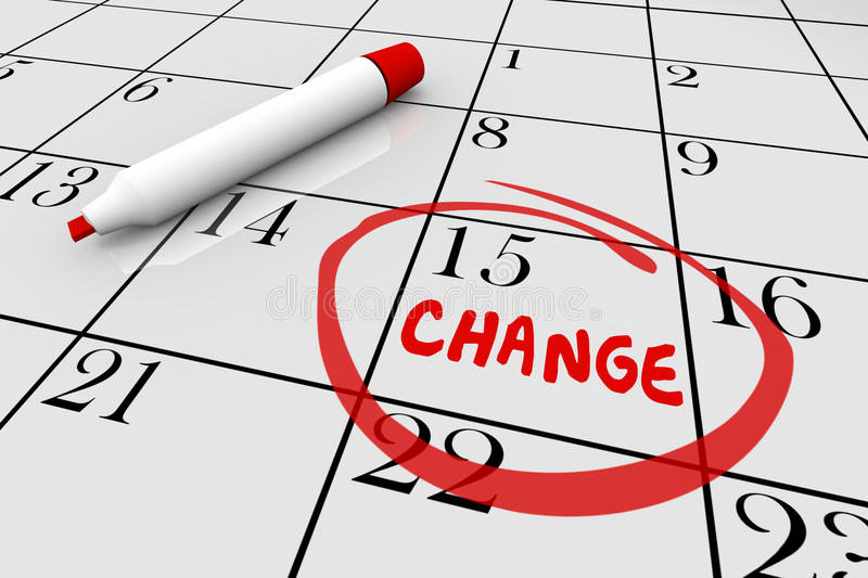Change Date Stock Illustrations.