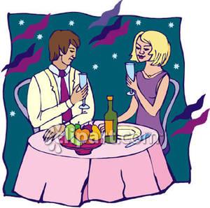 Dinner Date Clipart.