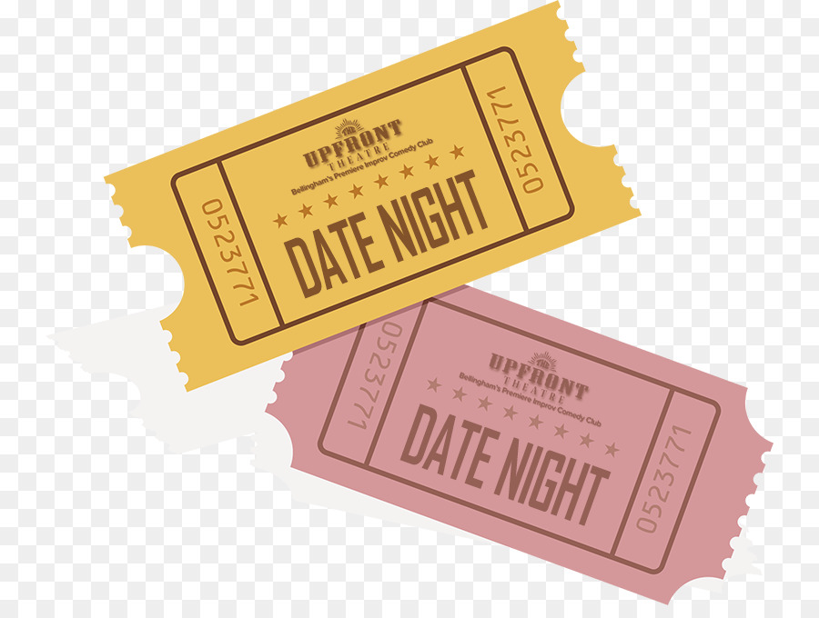 Dating Ticket png download.