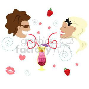 couple on date night clipart. Royalty.