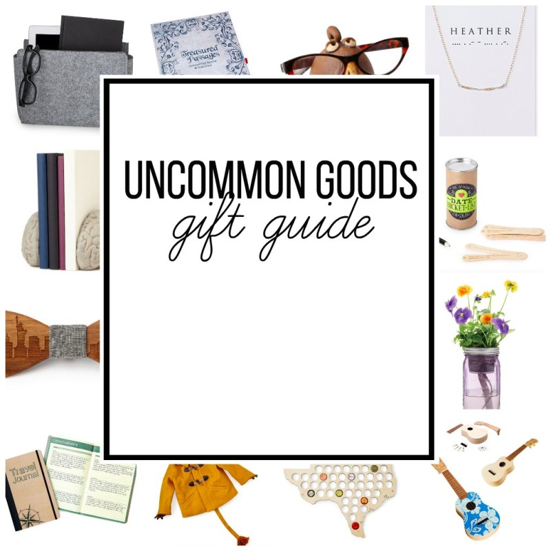 A gift guide for Uncommon Goods.