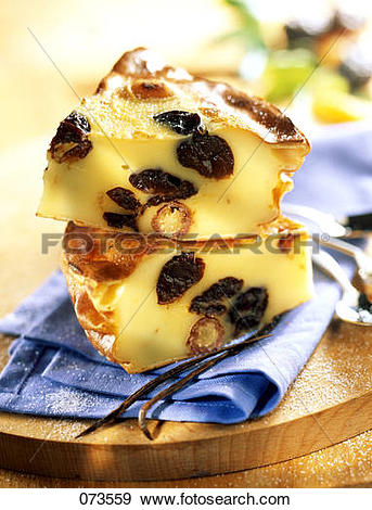 Stock Photograph of Plum,date and apricot Breton Far 073559.