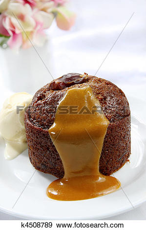 Stock Photograph of Sticky Date Pudding k4508789.
