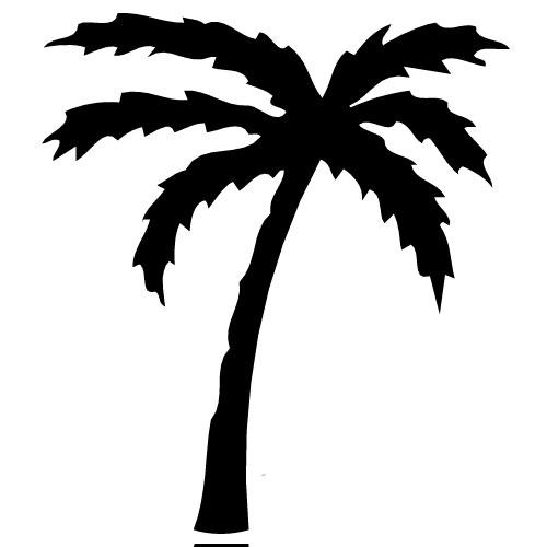Palm fan clipart #11