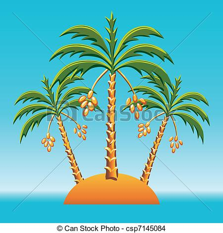 Date tree palm clipart.