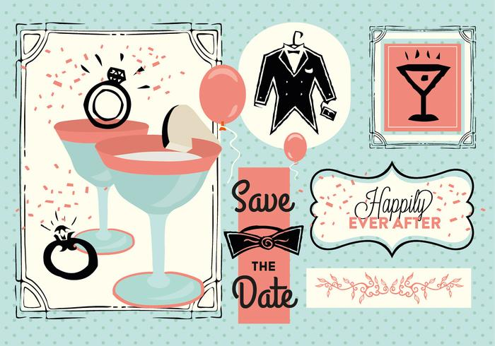 Free Save The Date Vector.