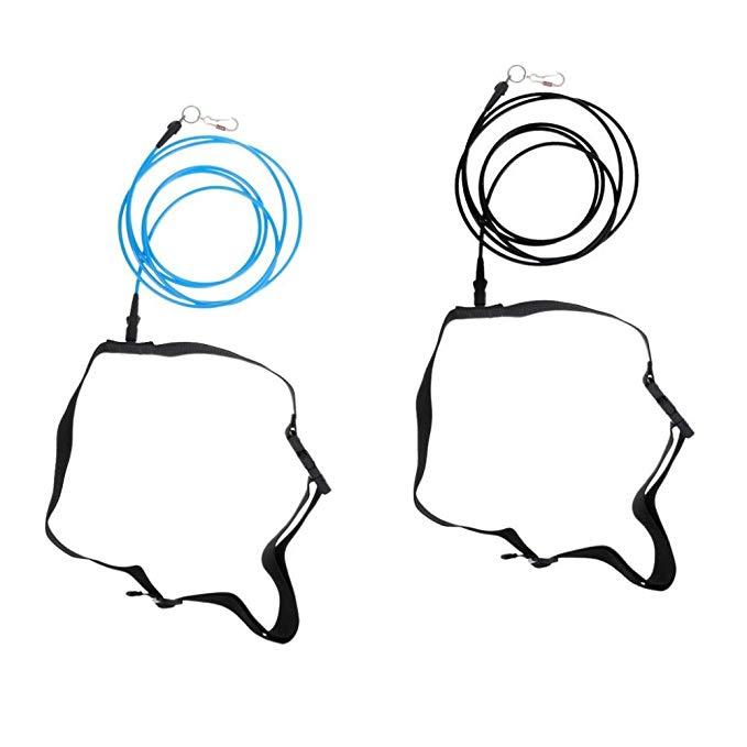 NF&E Swimming Leash Stationary Cord Swim Pool Hip Belt.