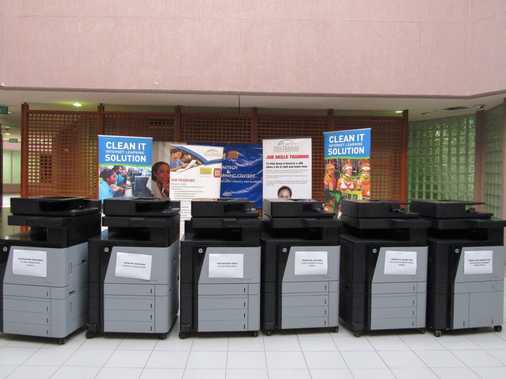 Telikom PNG and Datec Donate Printers to Schools.