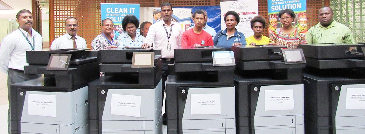 Printers donated through partnership.