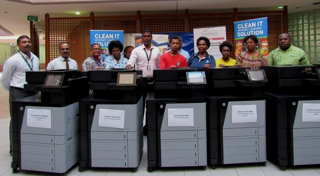 Printers donated to Schools through partnership.