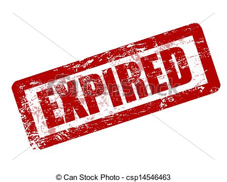 Clip Art Vector of Expired stamp csp14546463.