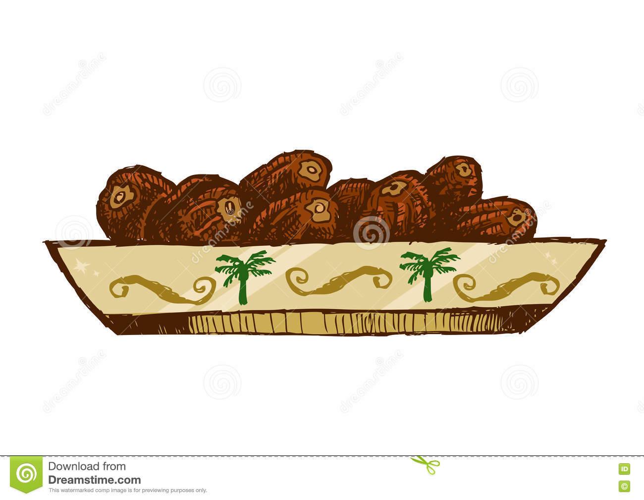 Dates Fruit Date Palm Stock Illustrations.