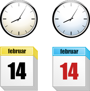 Time and date clipart.