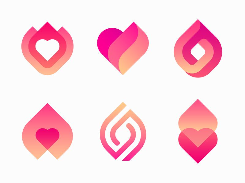 Logo options for dating app.