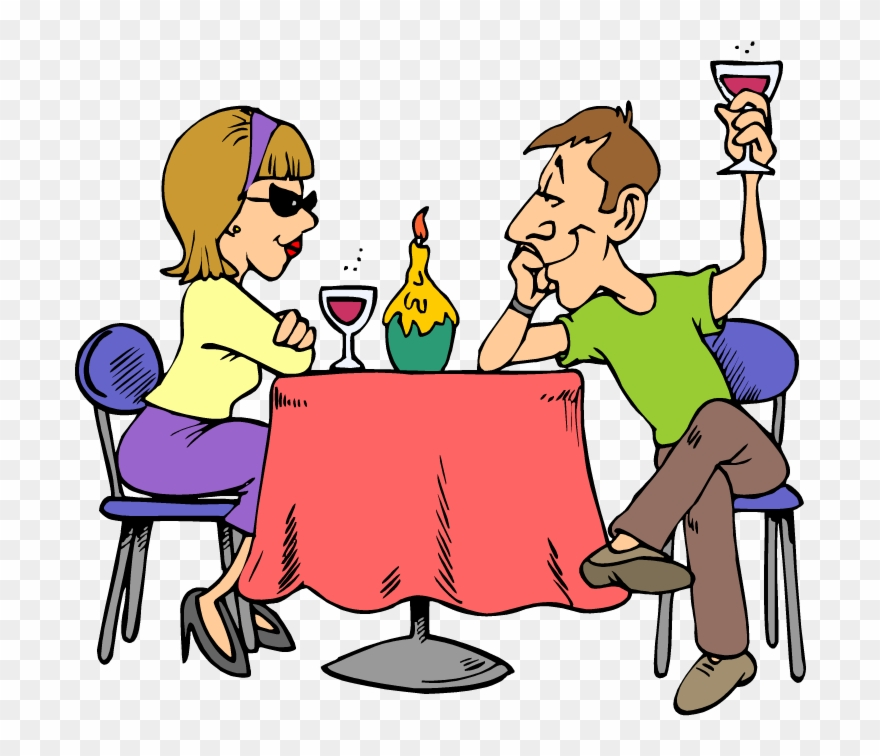 Dating First Lunch Clip Art Outside Dining.
