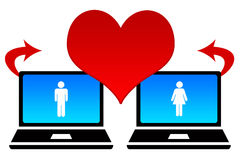 Online dating clipart.