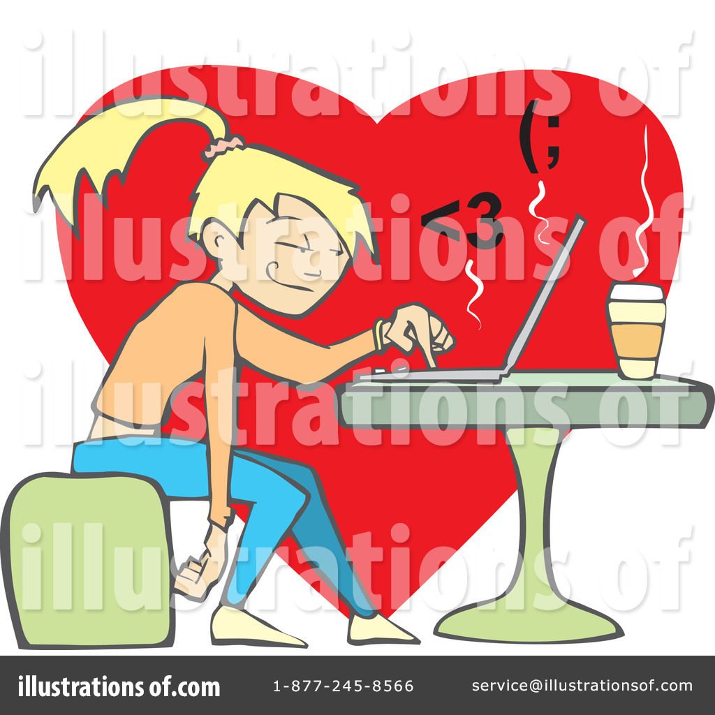 Online Dating Clipart #59359.