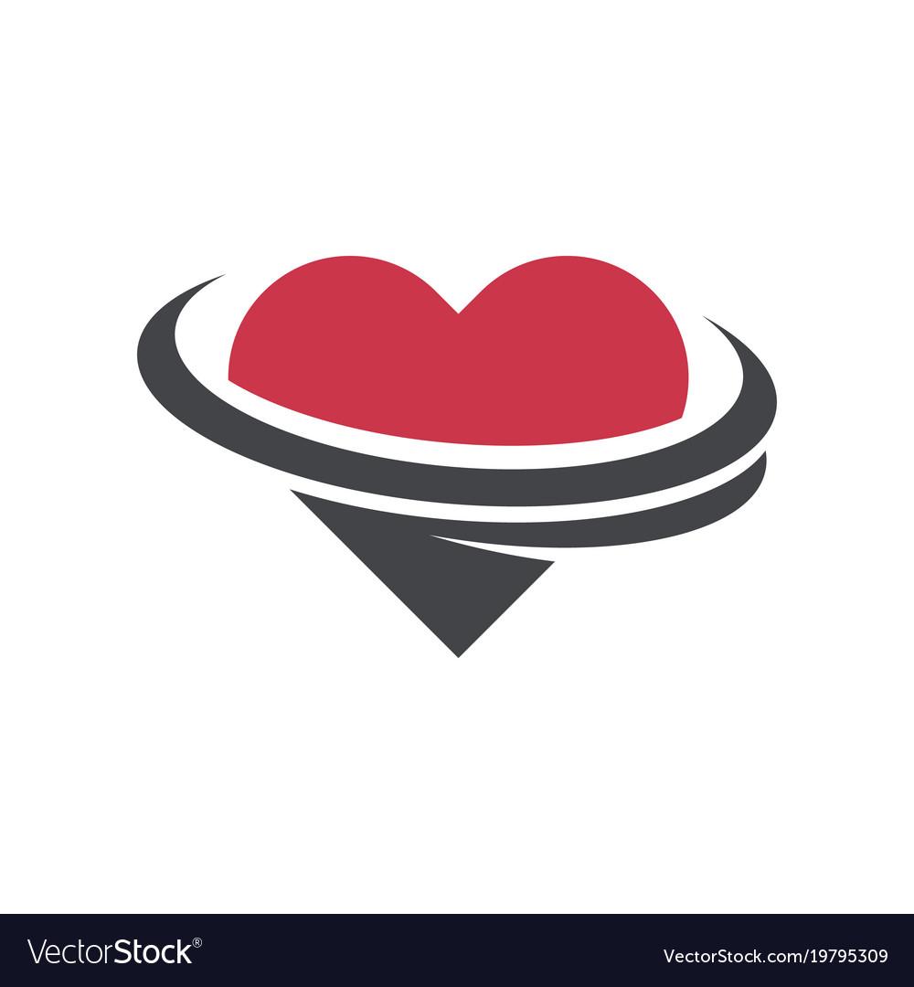 Heart dating logo icon.