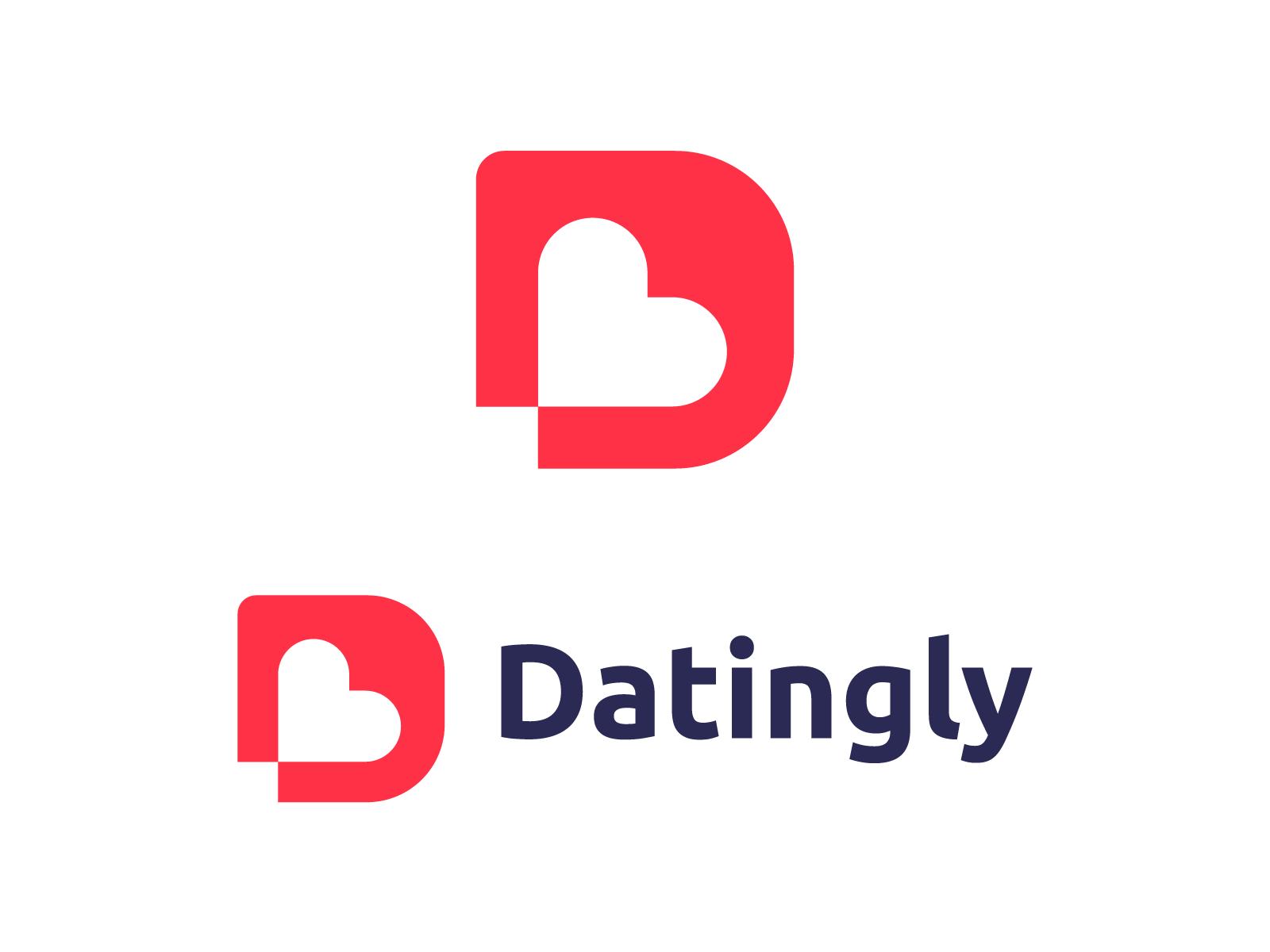 Dating logo design for Datingly.