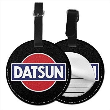 Amazon.com: Datsun Emblem Car Logo Round Luggage Bag Tags.