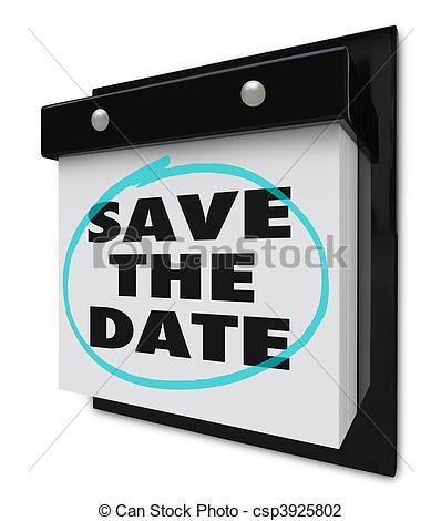 Clip Art von Wand, datum, Kalender, retten,.