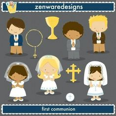 Catholic Confirmation Symbols Clipart.