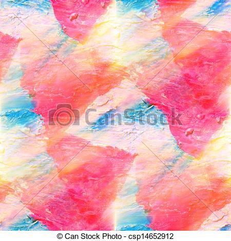 Clipart of sunlight art daub watercolor blue pink triangle.