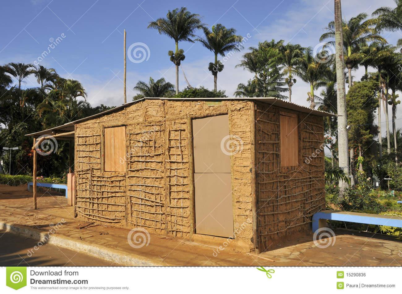 Wattle and Daub Home Clip Art.
