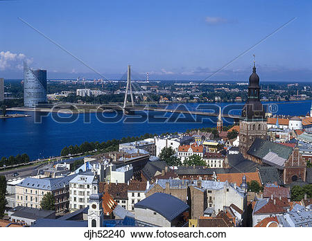 Stock Photography of Skyline, Old Town Square, Old Town, Vansu.