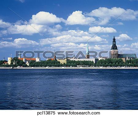 Stock Image of Riga, Daugava River pcl13875.