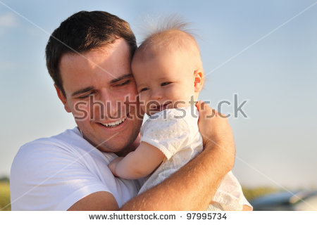 Dad And Baby Stock Images, Royalty.
