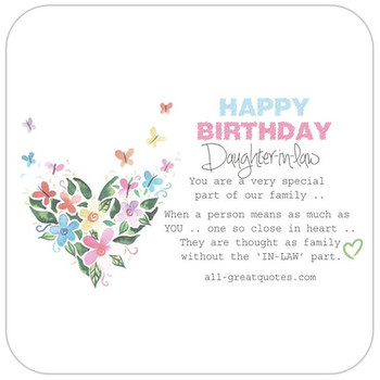 Happy Birday Daughter In Law Clipart.