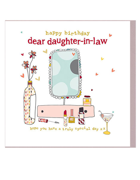 Daughter In Law Birthday Cards.