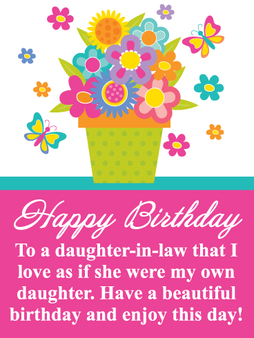 Happy Birthday Daughter.