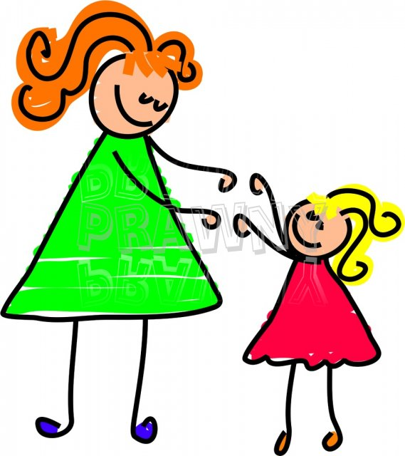 Mother daughter images clip art.