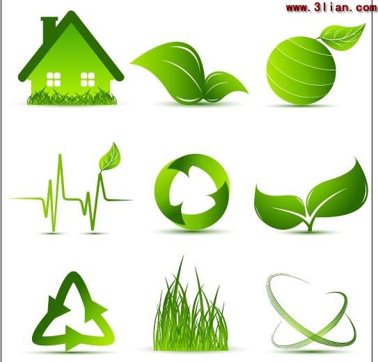 Green Leaf Plants Icon.