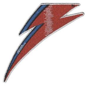 Details about David Bowie Ziggy Stardust Lightning Bolt Embroidered Patch  B012P Iggy Pop.